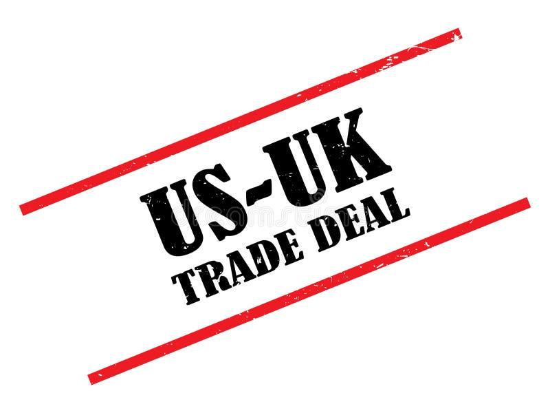 Wir und Eu-Handelsabkommen lizenzfreie abbildung