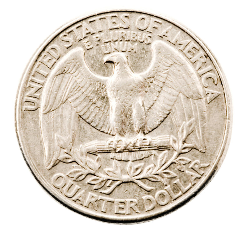 Wir Vierteldollarmünze stockfotografie