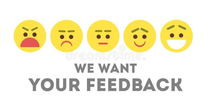 Wir wünschen Ihr Feed-back vektor abbildung