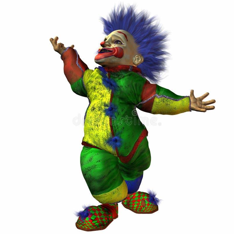 Wirbeln der Clown lizenzfreie abbildung