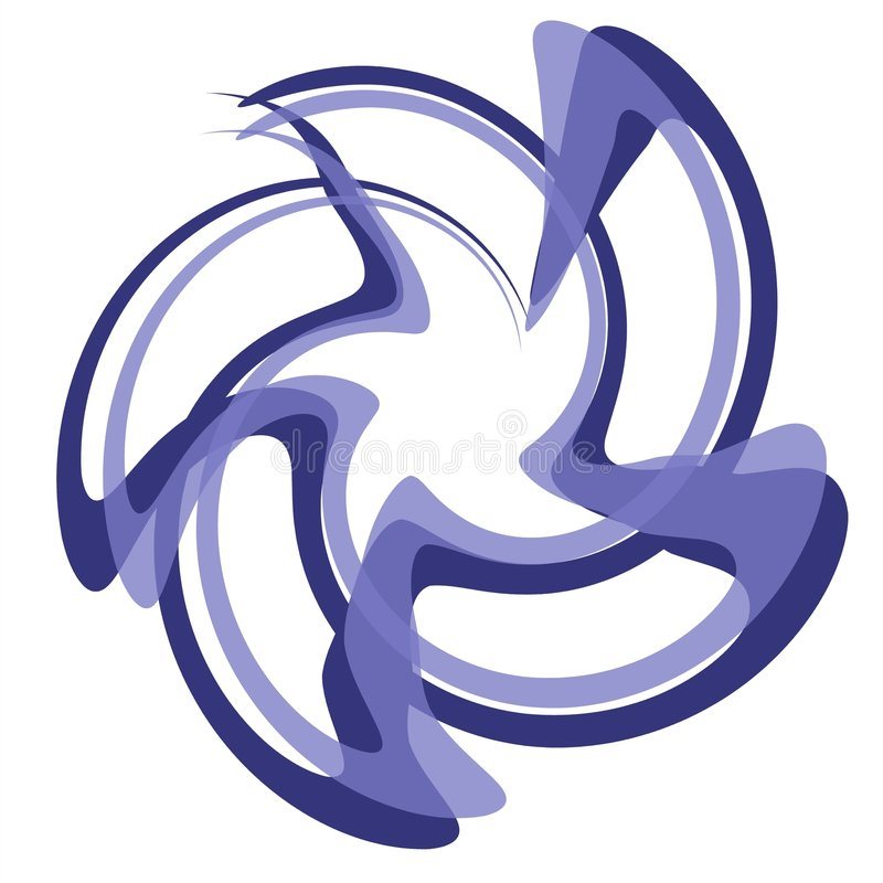 Wirbelnde Zeilen Stern-Blau-Töne lizenzfreie abbildung