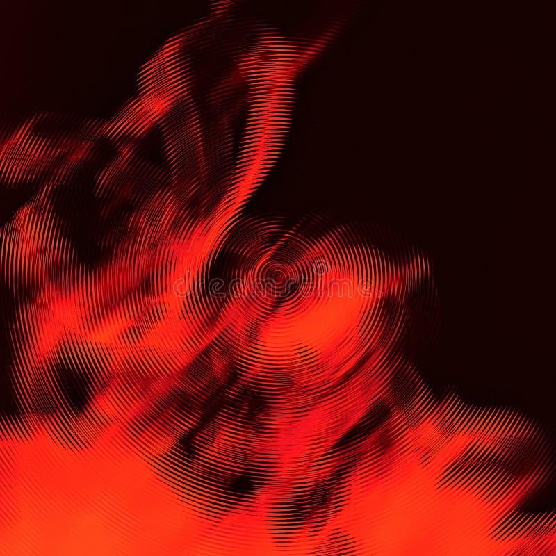 Wirbelnder Rauch in den Kreisen stockbilder