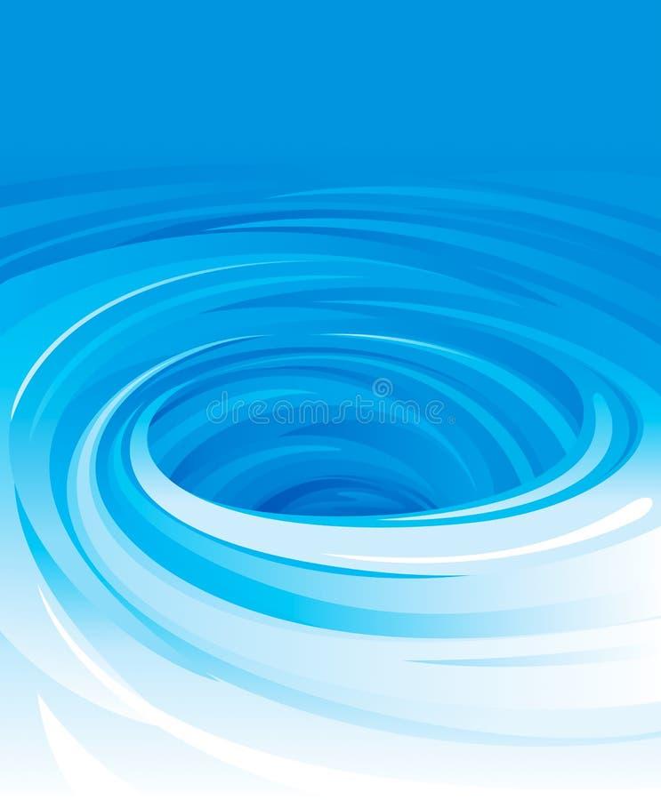 Wirbelndes Wasser lizenzfreie abbildung