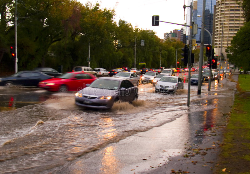 Wirbelsturm in Melbourne lizenzfreies stockfoto