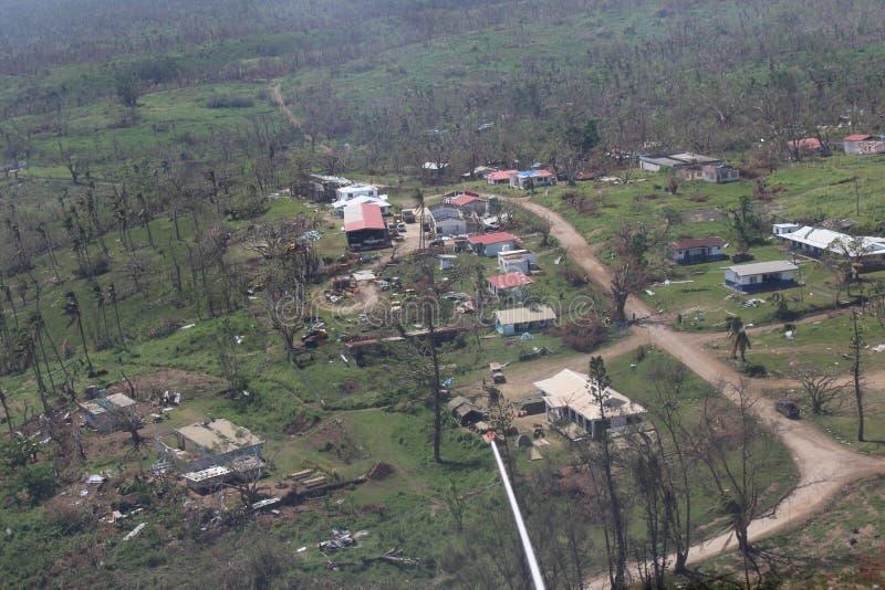 Wirbelsturm-PAM in Vanuatu stockfotos