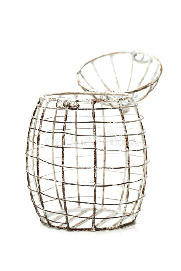 Wire basket for eggs stock photos