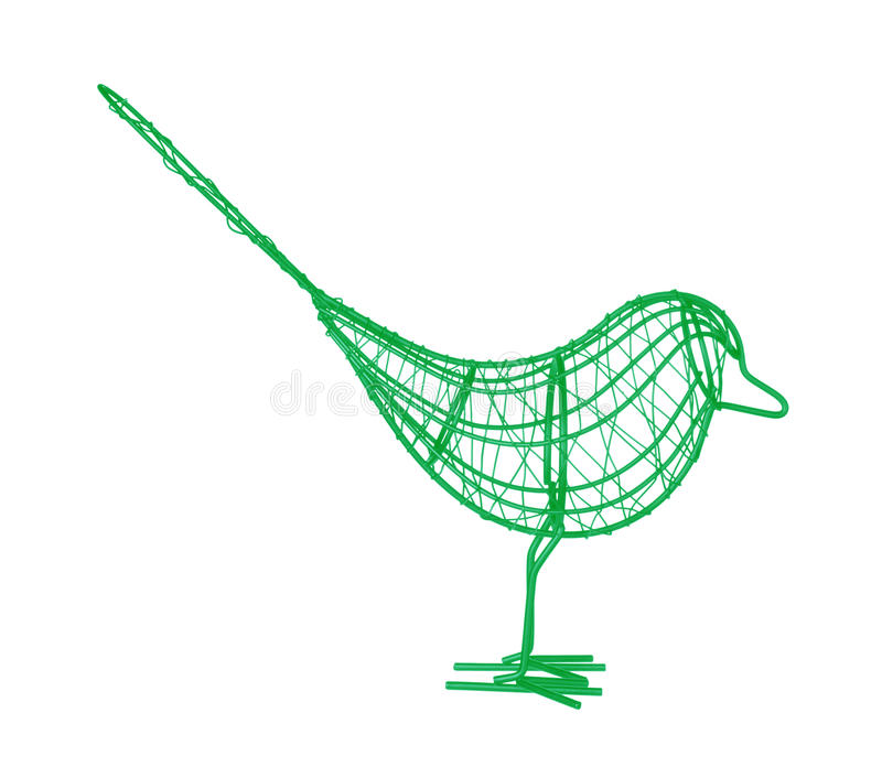 Wire Bird royalty free stock images