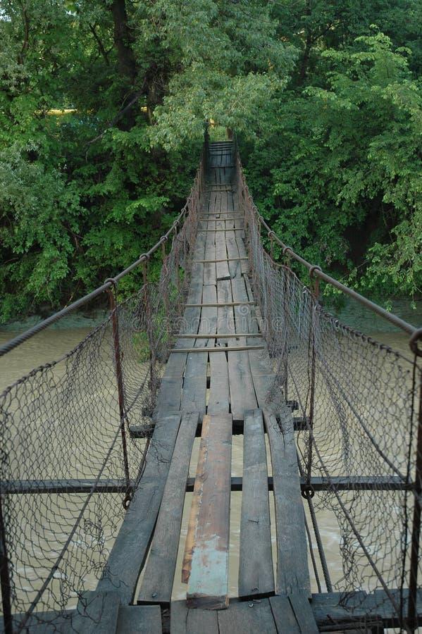 Wire bridge stock photo