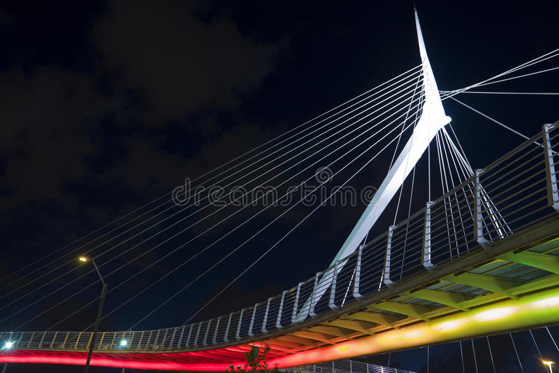 Wire bridge. The wire bridge in the city of Petach-Tikva - Israel royalty free stock images