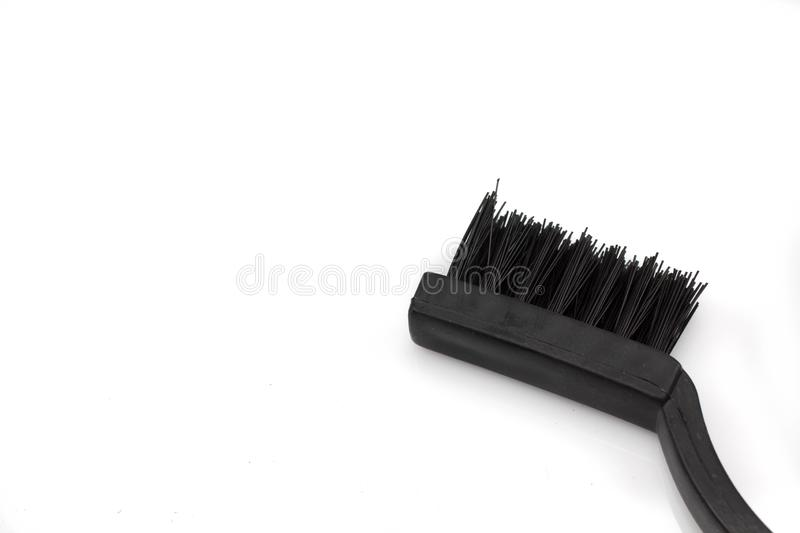 Wire brush isolated on a white background stock photography