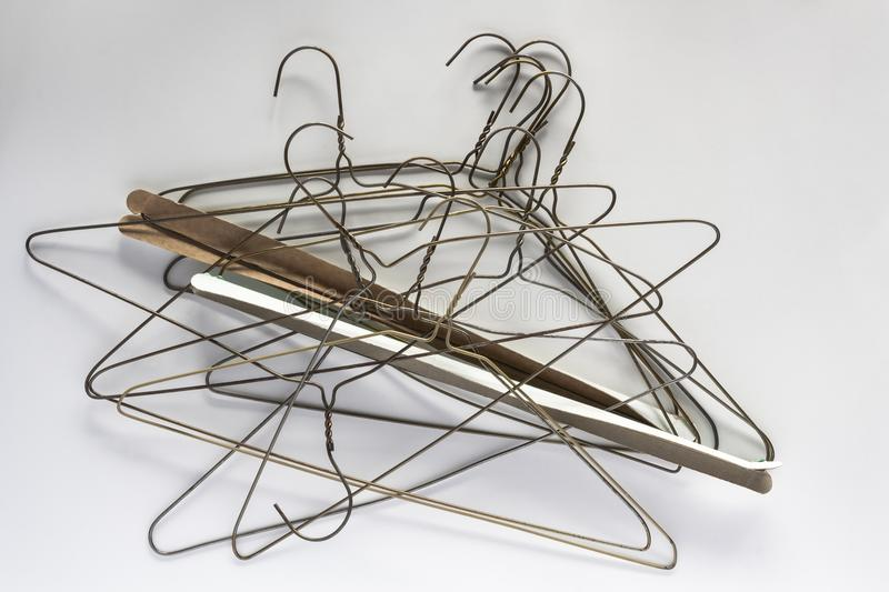 Wire Clothes Hangers royalty free stock image