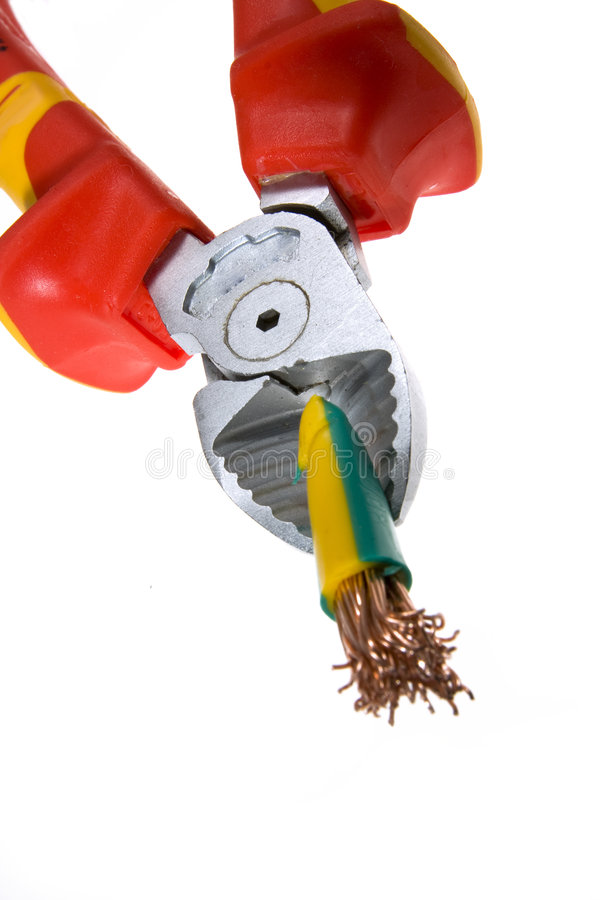 Wire cutter and wire royalty free stock images