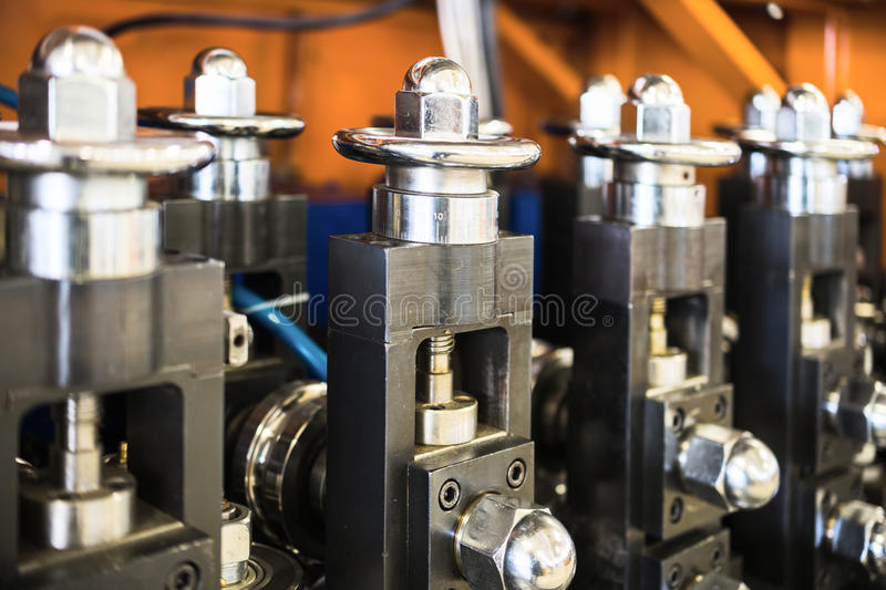 Wire drawing equipment. royalty free stock photos