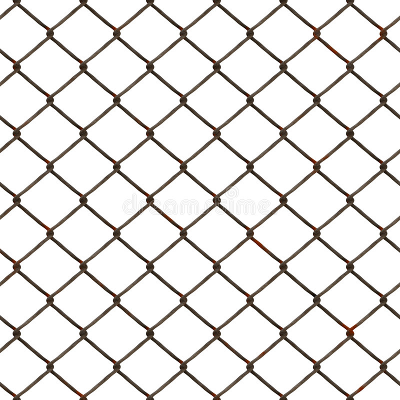 Wire fence. Background and texture of old rusty chainlink fence stock illustration