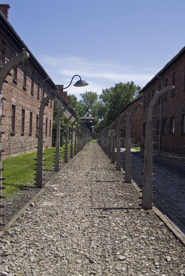 Wire Fence In Auschwitz Concentration Camp Editorial Photography