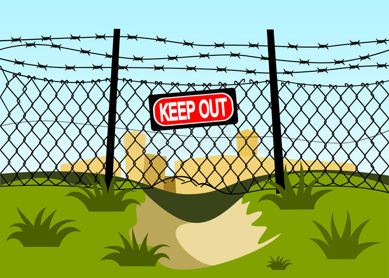 Download Wire Fence With Barbed Wires. Stock Photo - Image: 24791980