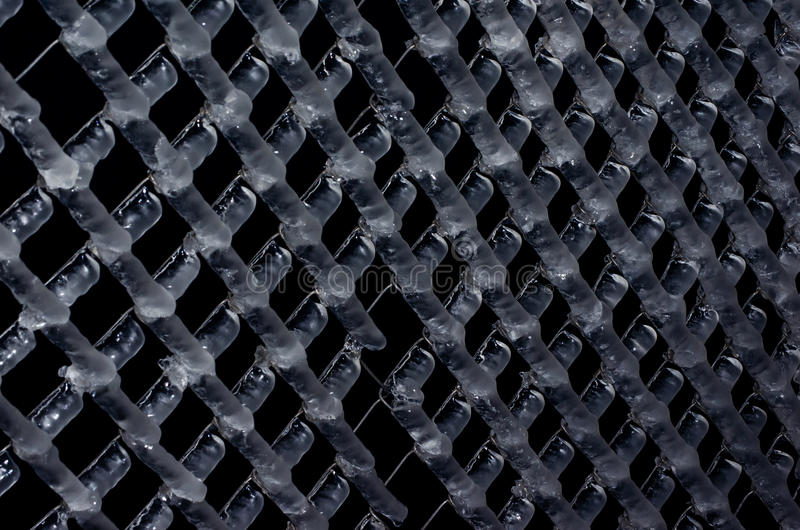 Wire fence frozen royalty free stock photos