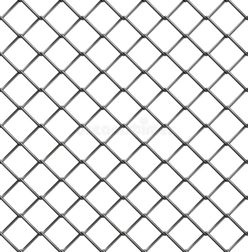 Wire fence seamless pattern royalty free illustration