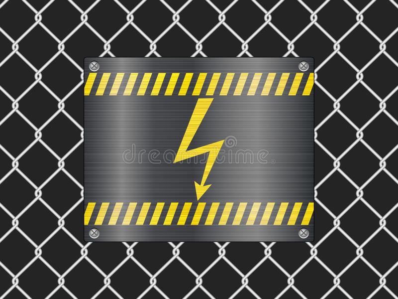 Download Wire Fence And Voltage Sign Stock Vector - Image: 20085854