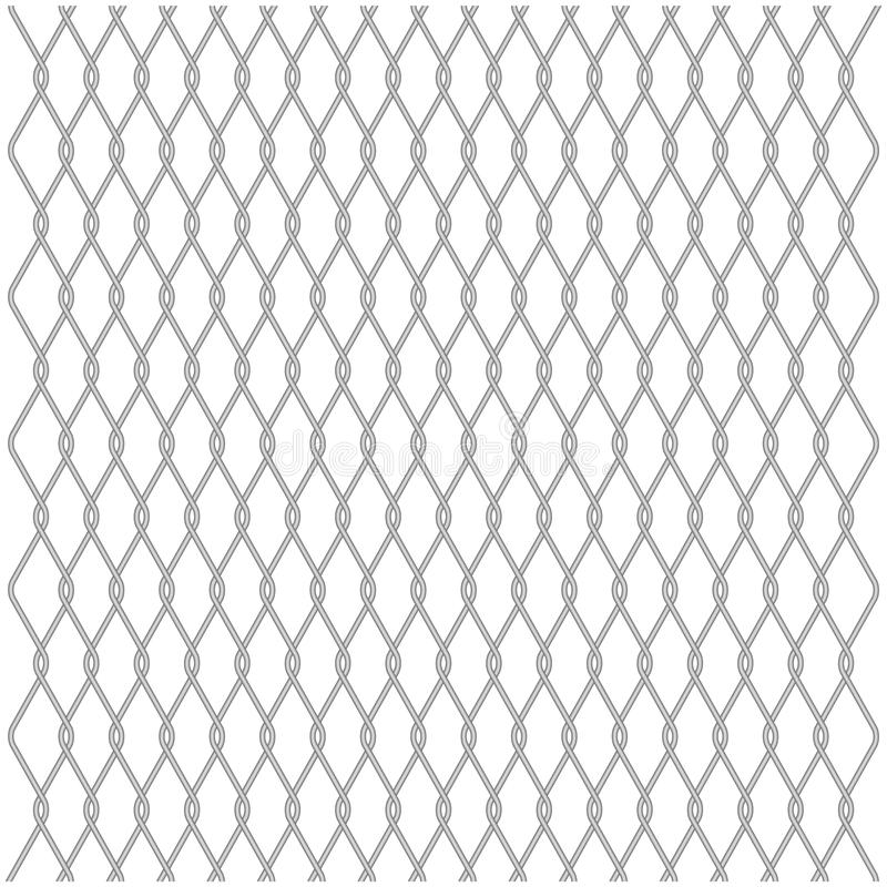 Wire Fence On A White Background Stock Vector - Illustration of ...