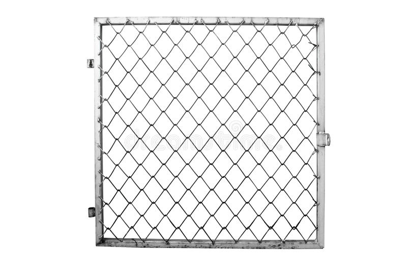 Wire fence on white background royalty free stock image