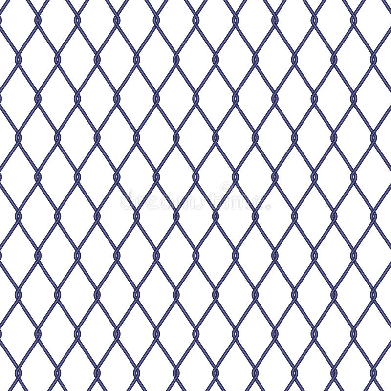 Wire Fence On White Background Stock Vector - Illustration of grid ...
