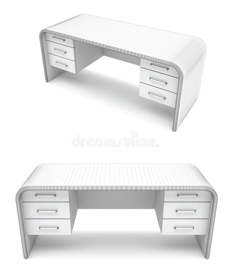 Wire-frame desk vector illustration