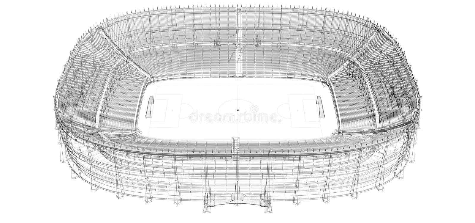 wire frame of football or soccer stadium vector illustration