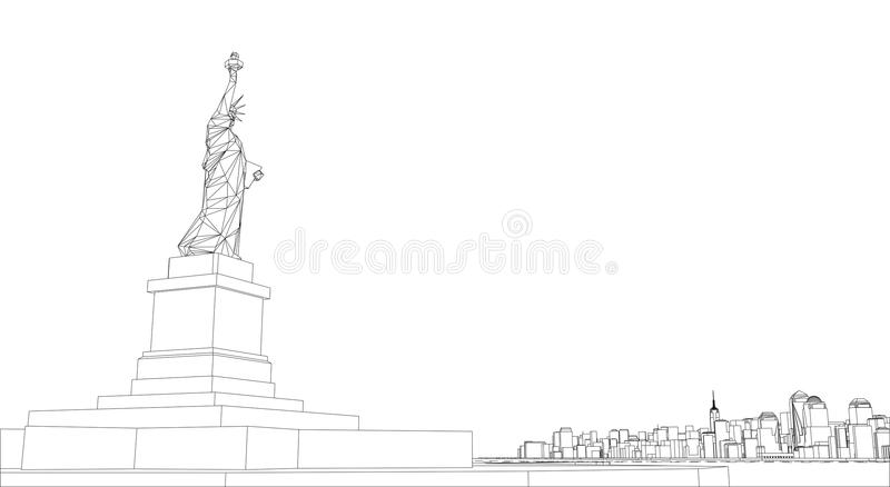 Wire frame new york city blueprint style stock illustration download wire frame new york city blueprint style stock illustration illustration of background malvernweather Image collections