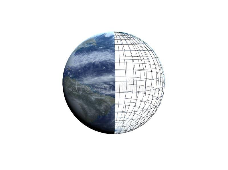 Download Wire-framed earth stock illustration. Illustration of frame - 11880289
