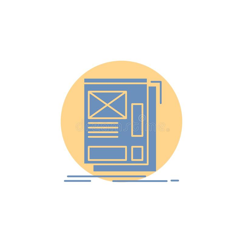 wire, framing, Web, Layout, Development Glyph Icon stock illustration