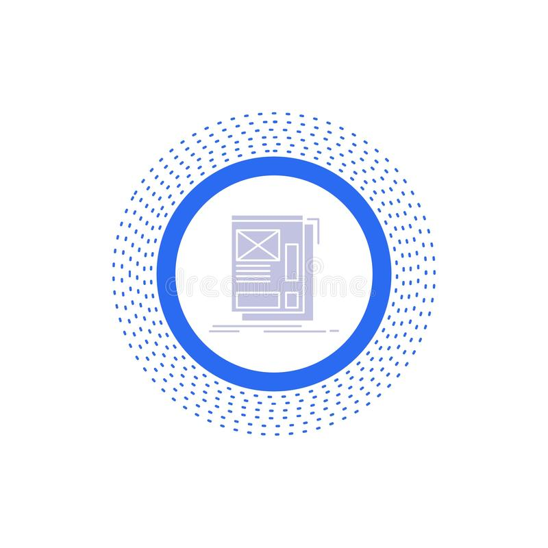 wire, framing, Web, Layout, Development Glyph Icon. Vector isolated illustration royalty free illustration