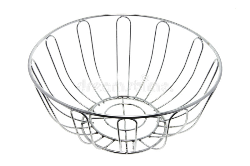 Wire Fruit Bowl royalty free stock photos