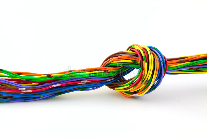 Wire knot stock photos