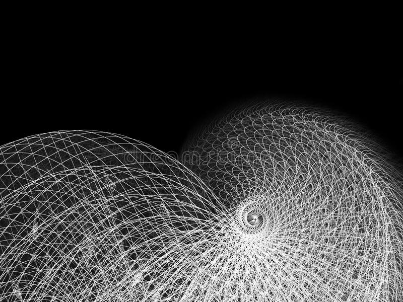 Wire And Line Spiral Illustration Stock Photography