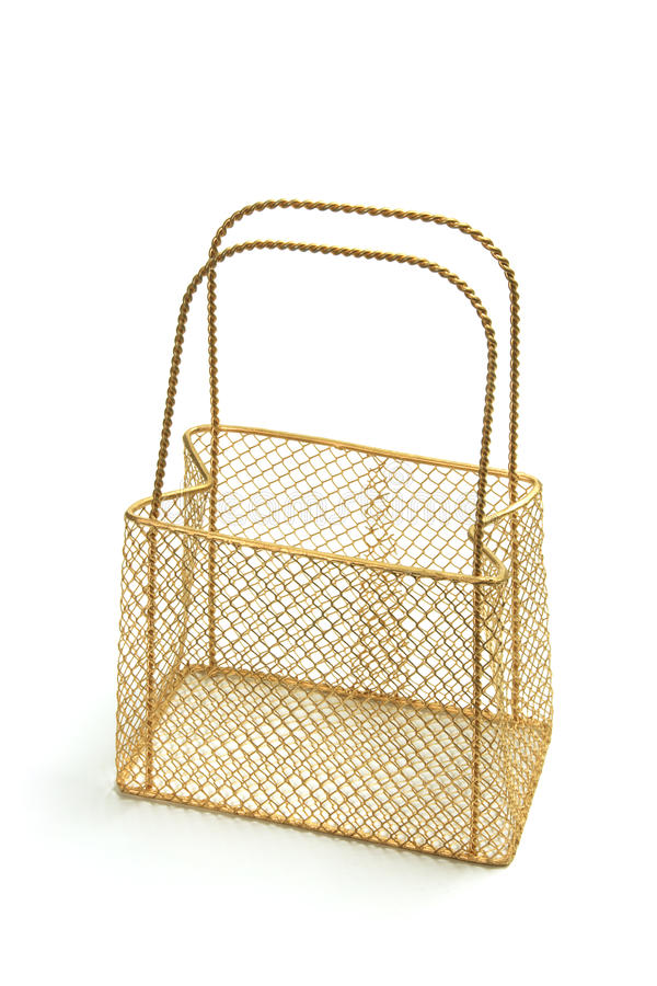 Wire Mesh Carry Basket Royalty Free Stock Photography