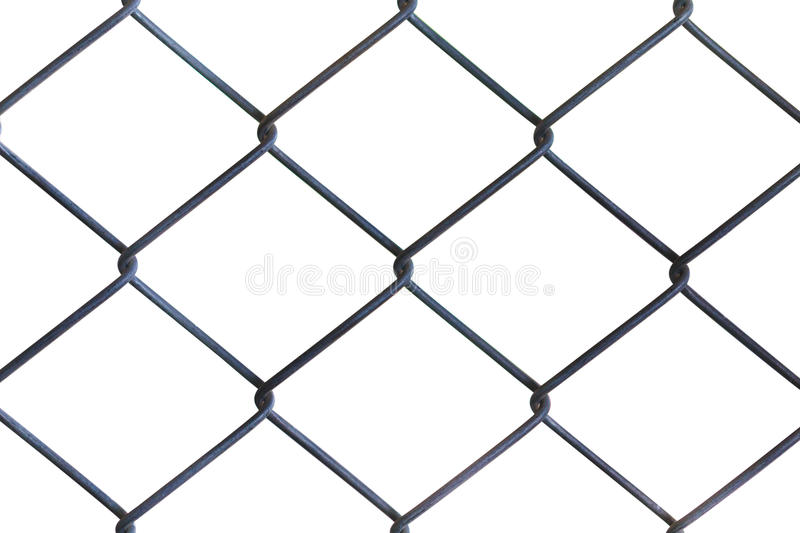 Wire Mesh Fence. White Background. Stock Image - Image of design ...