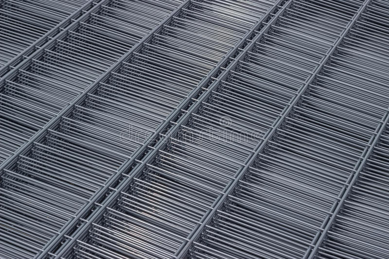 Wire mesh panels 2 stock image. Image of parallel, cold - 46498903
