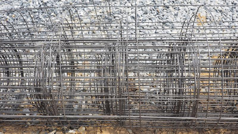 Wire mesh rolled steel grille material construction background royalty free stock image