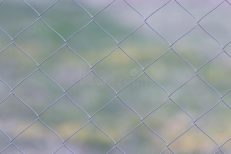 Wire metal netting fence stock photo