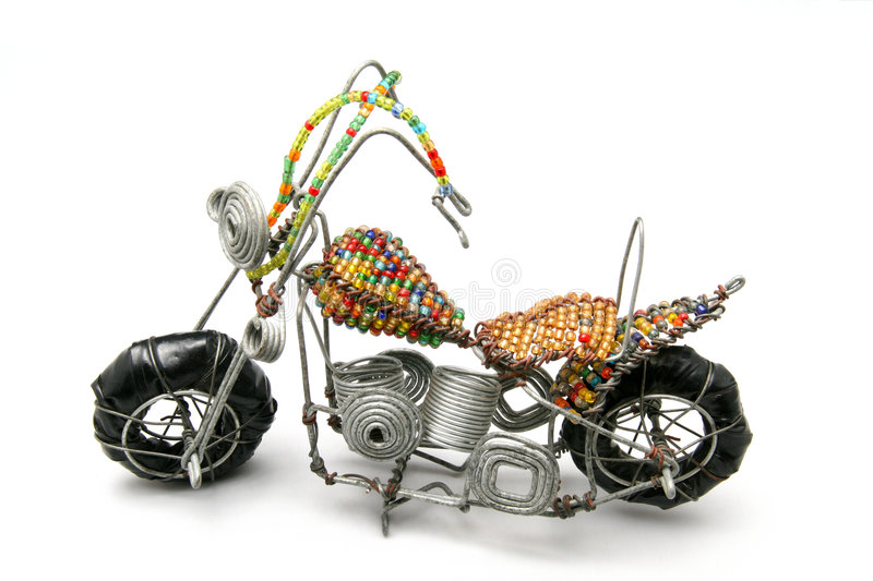 Download Wire model motor bike stock image. Image of beads, children - 5267741