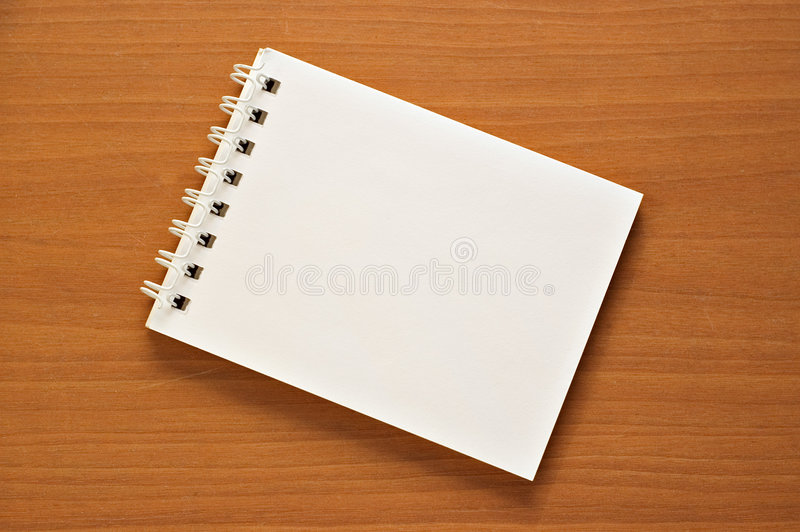 Wire-o notepad royalty free stock images