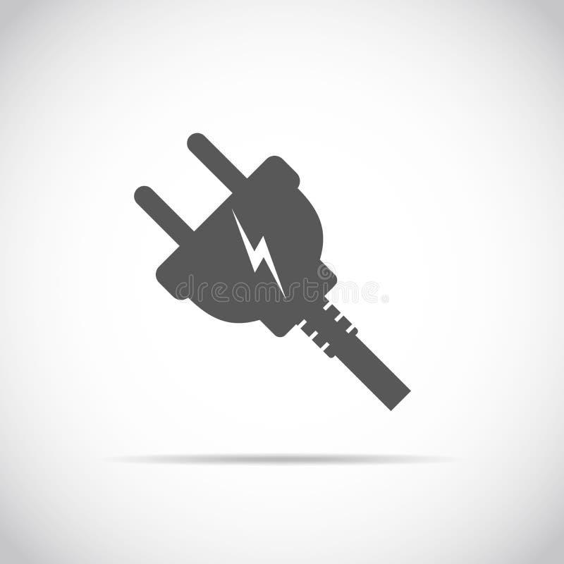 wire plug icon vector illustration stock illustration. Black Bedroom Furniture Sets. Home Design Ideas