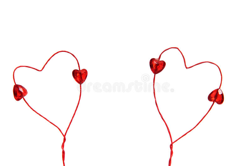 Download Wire Red Hearts Isolated On White Background Stock Photography - Image: 17813992