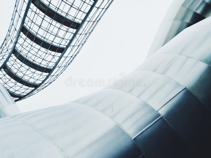 Wire and tube stainless steel structure stock photography