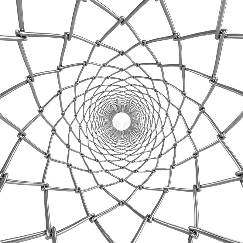 Wire web tube. Abstract ornament. Background royalty free stock image