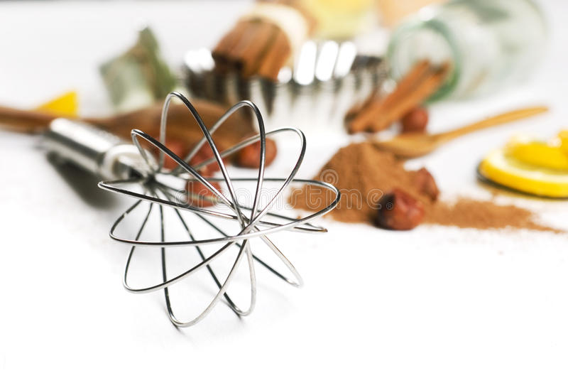 Wire whisk royalty free stock image
