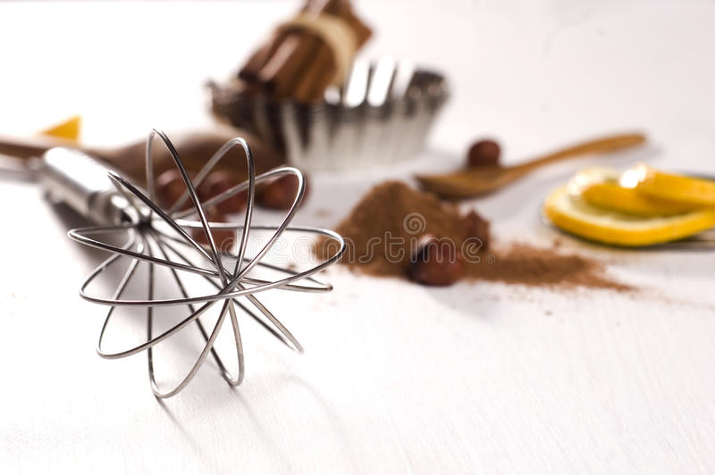 Wire whisk stock photo