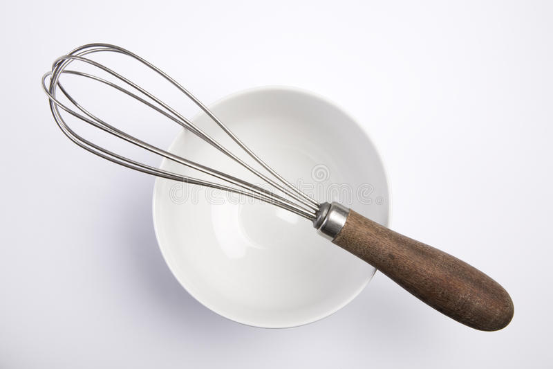 Wire Whisk and bowl royalty free stock photos