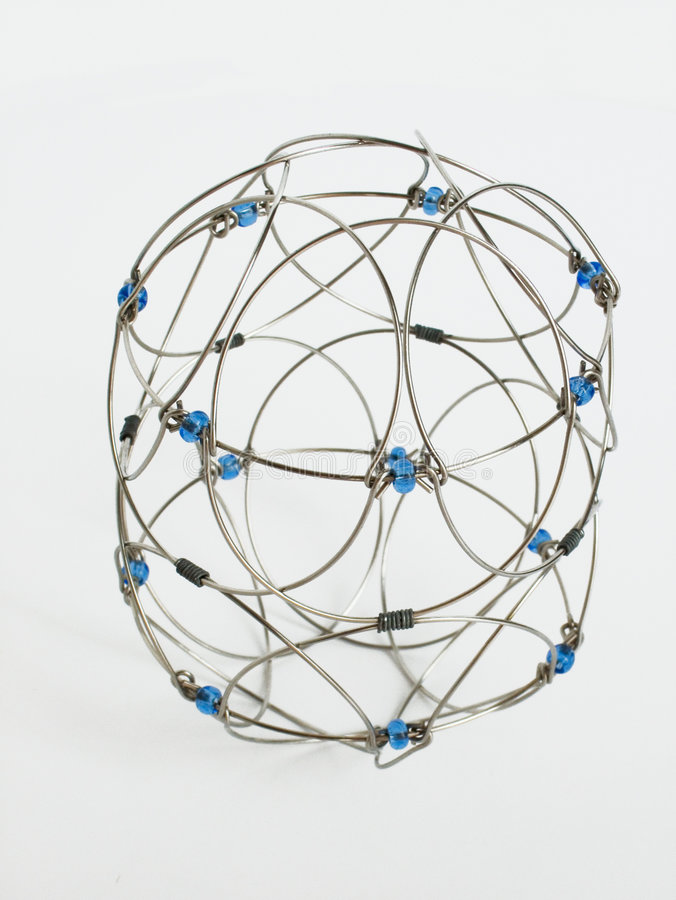 Wire Wireframe. Wireframe from wire royalty free stock photo